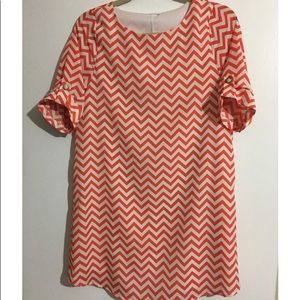 Everly Chevron Print Dress